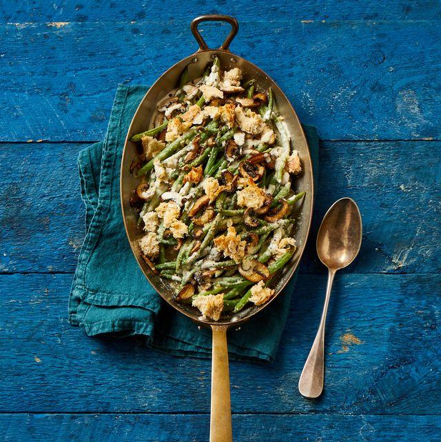 Fresh Green Bean Casserole- cool food ideas for Thanksgiving