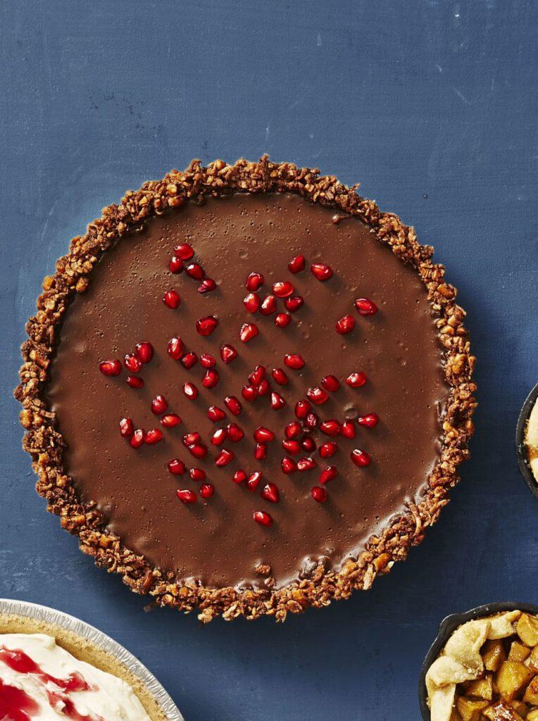 Gluten-Free Chocolate Ganache Tart- best chocolate Thanksgiving desserts