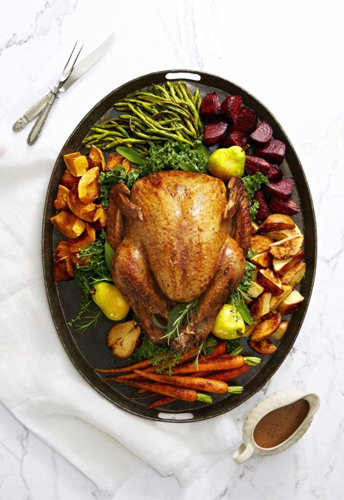 Golden-Glazed Turkey Recipe- best roast turkey recipe for Thanksgiving