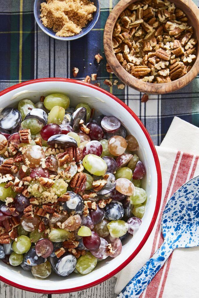 Grape Salad- best salad recipes for Thanksgiving dinner