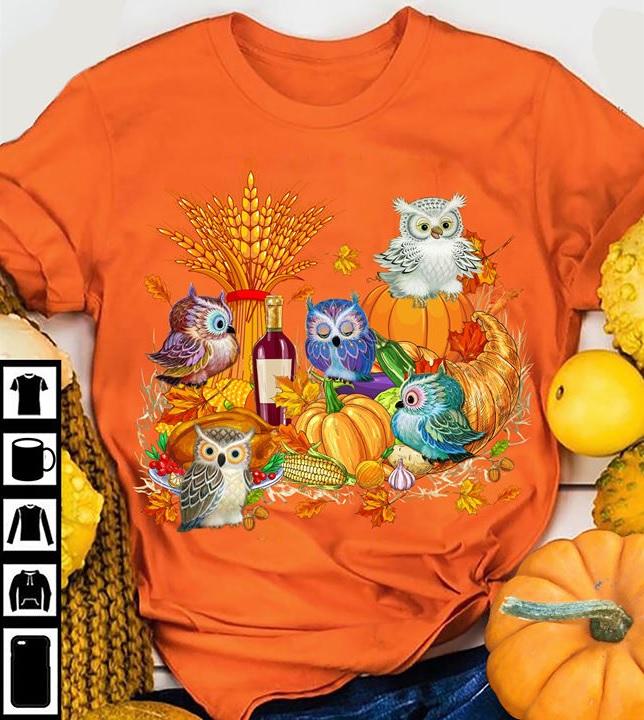 Thanksgiving Owl Shirt