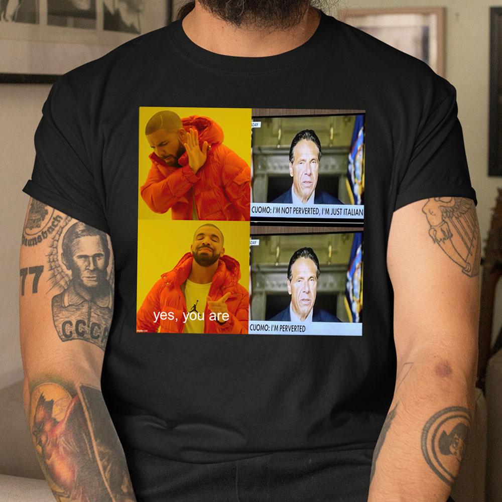 I'm Not Perverted Just Italian Shirt Meme Mockup