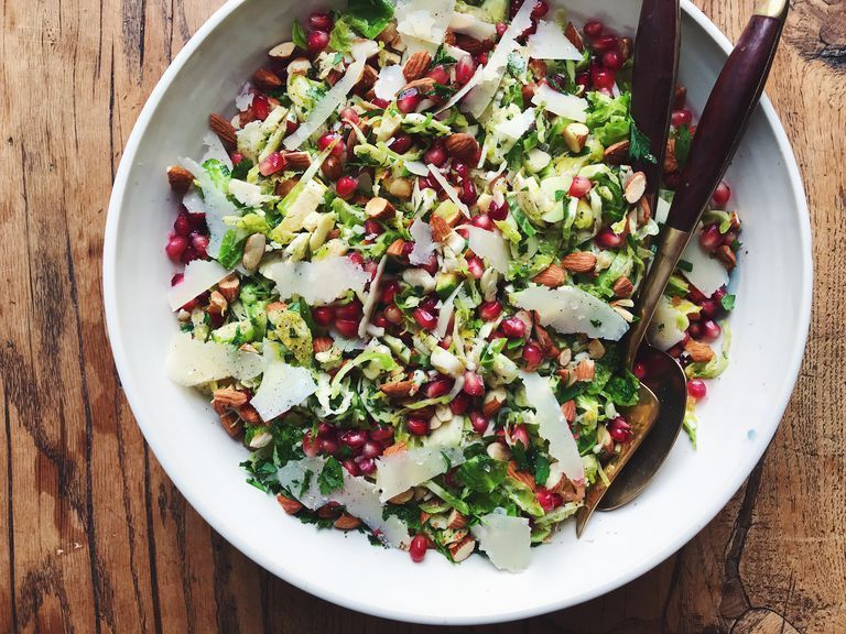 Parmesan Brussels Sprouts Salad- best salad recipes for Thanksgiving dinner
