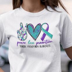 Peace Love Prevention Shirt Suicide Prevention Awareness
