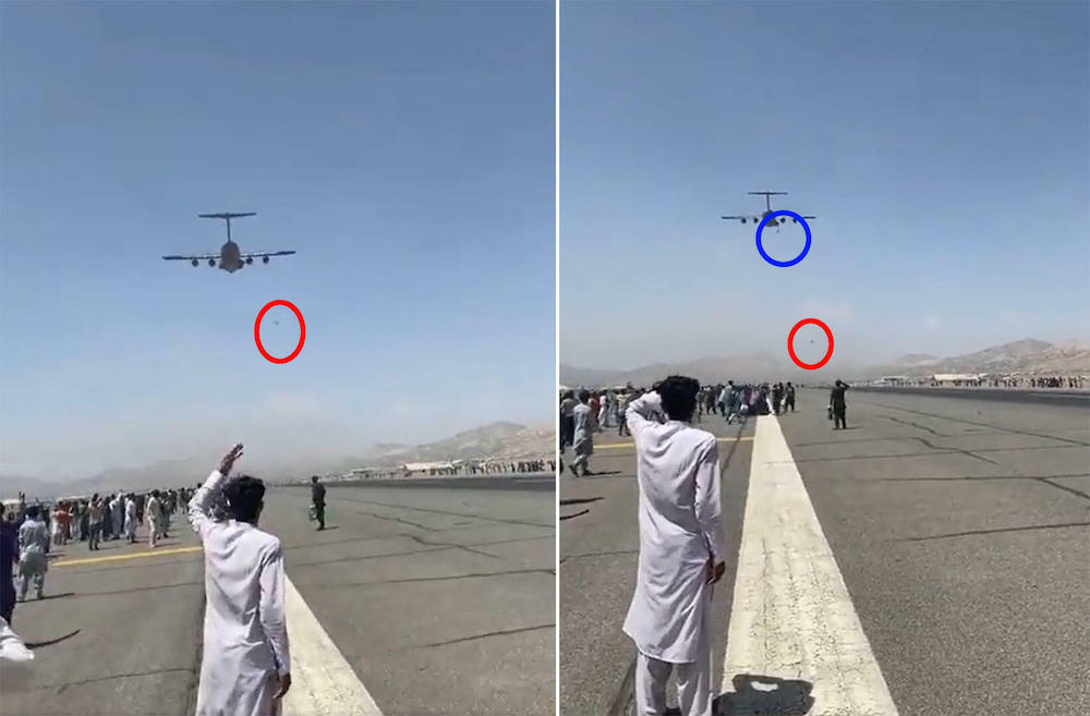 People fell from plane at Kabul airport