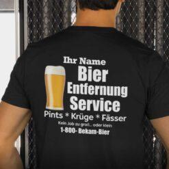 Personalisiertes Bier Entfernungs Service Shirt