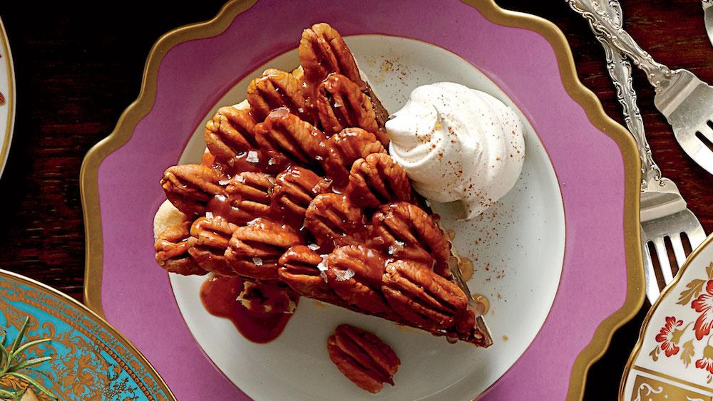 Salted Caramel-Chocolate Pecan Pie- best chocolate Thanksgiving desserts