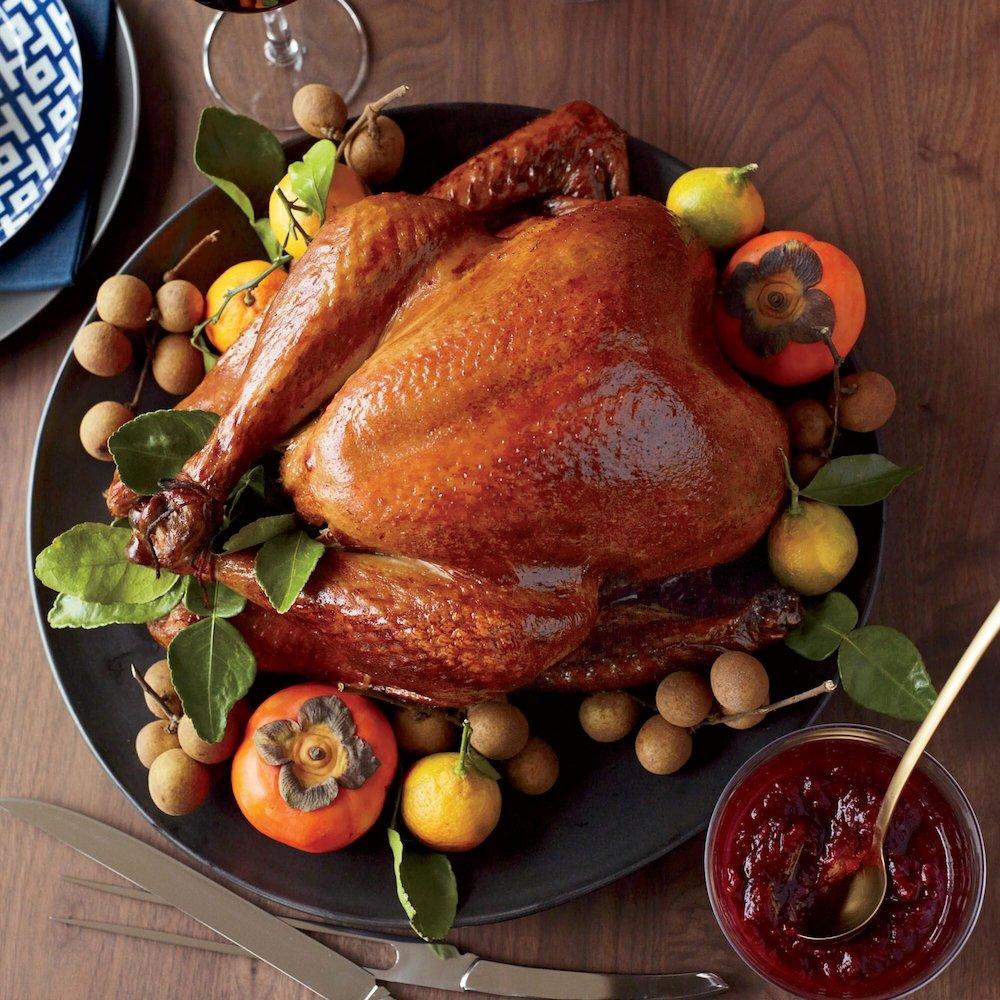 Soy-Sauce-and-Honey-Glazed Turkey- best roast turkey recipe for Thanksgiving
