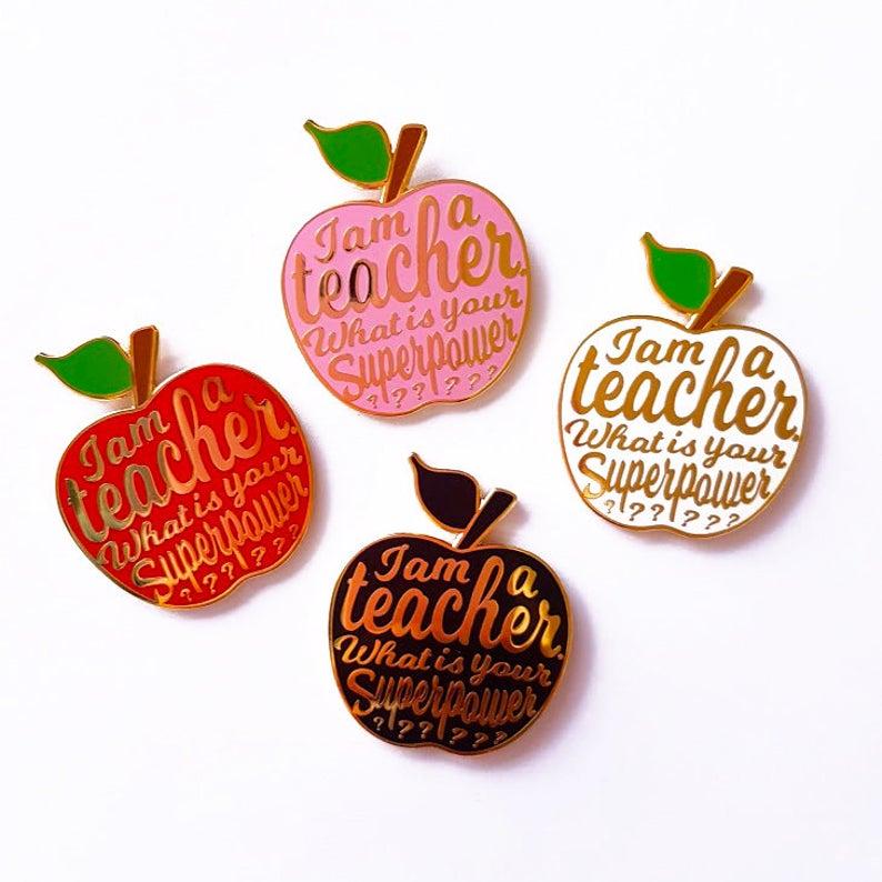 Teacher enamel pin