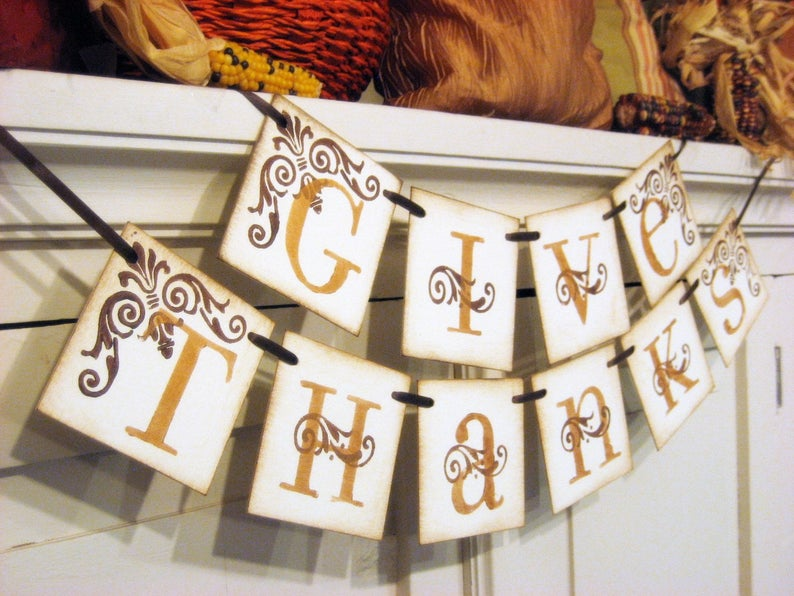 Thanksgiving Decorations - Give Thanks