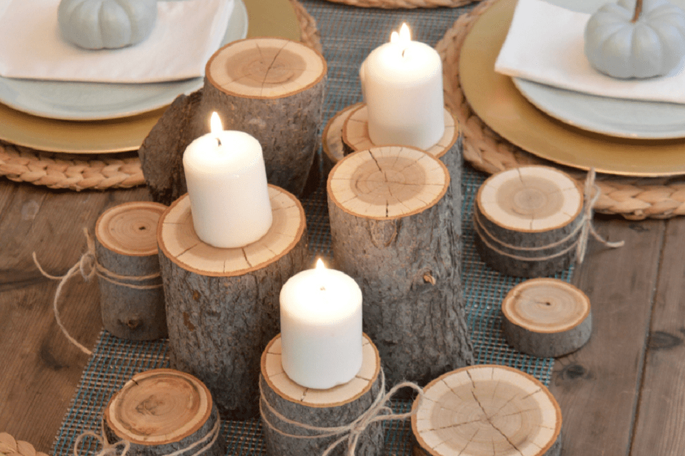 Thanksgiving Table Decoration Ideas Use Natural and Simple Materials