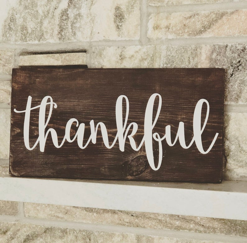 Thanksgiving Wooden Sign