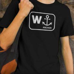 W Anchor T Shirt Funny Wanker Jerk Tee