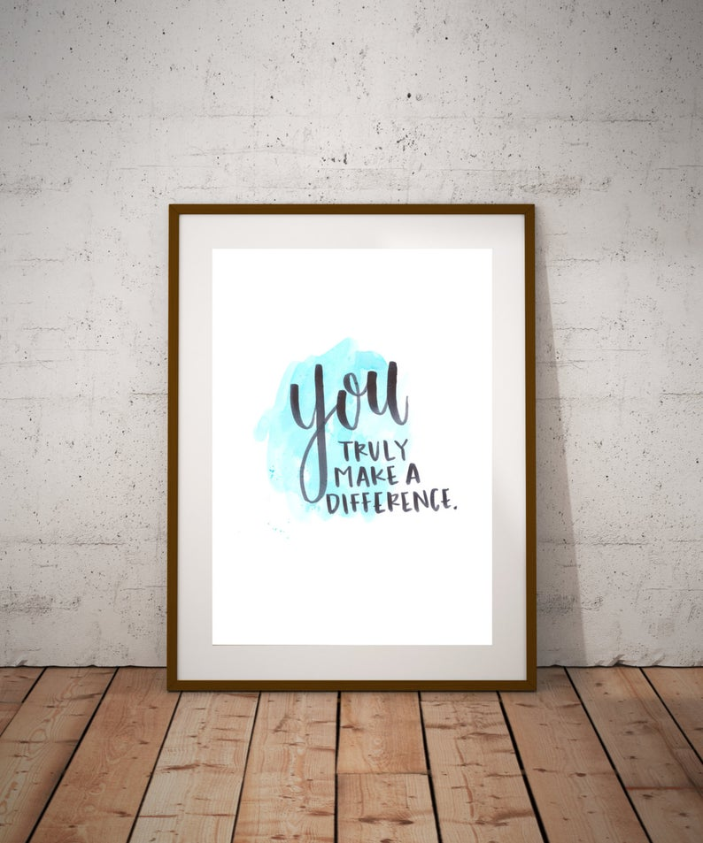 You Truly Make A Difference - Thanksgiving Gift Ideas For Teachers