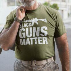 Black Guns Matter Shirt Gun Lovers
