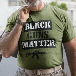 Black Guns Matter Shirt Pro Gun