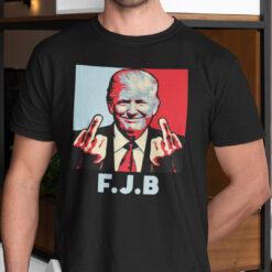 FJB T Shirt Trump Middle Finger Fuck Joe Biden