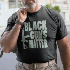 Gun Lovers Black Guns Matter Shirt