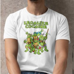 Legalize Cocaine Shirt Mutant Ninja Turtles