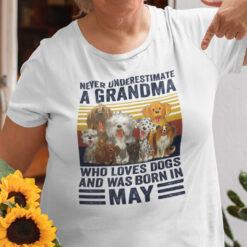 Never Underestimate A Grandma Who Loves Dogs May Shirt