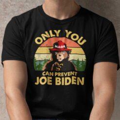 Vintage Only You Can Prevent Joe Biden MAGA Bear Shirt