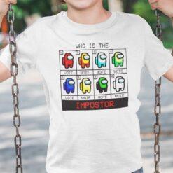 Who Is The Impostor Among Us Shirt