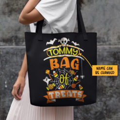 Bag Of Treats Halloween Personalized Tote Bag