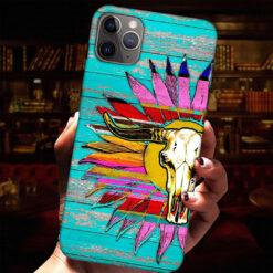 Buffalo Skull Sunflower Phone Case