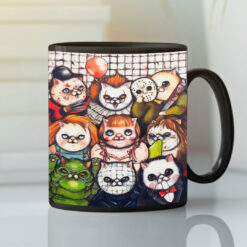 Cat Halloween Horror Movies Mug Scary Movie Characters