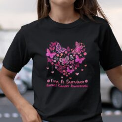 I'm A Survivor Breast Cancer Awareness Butterfly Shirt