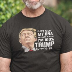 Just Got My DNA Results Back I'm 100% Trump Supporter Shirt