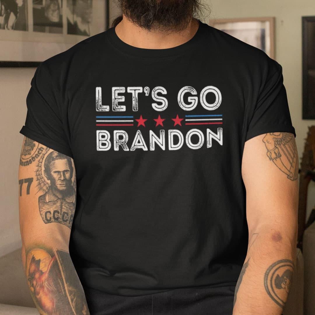 Let's Go Brandon T Shirt Brandon FJB Fuck Biden Chant