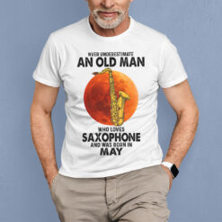 Never Underestimate An Old Man With A Piano Shirt May