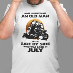 Never Underestimate Old Man With Side By Side Shirt July