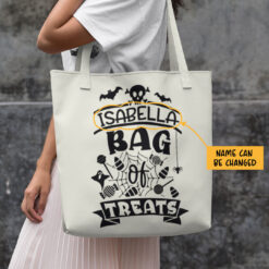 Personalized Bag Of Treats Halloween Tote Bag