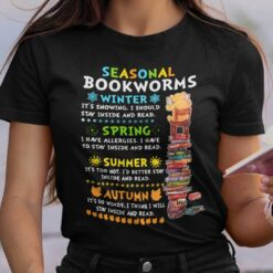 Seasonal Bookworms Winter It's Snowing I Should Stay Inside And Read Shirt
