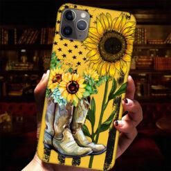 Sunflower Boots American Flag Phone Case Sunflower Lover