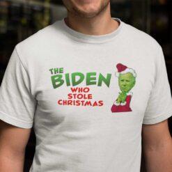 The Biden Who Stole Christmas Shirt The Biden The Grinch