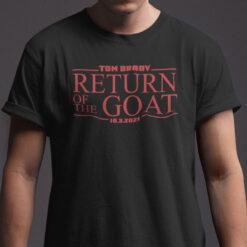 Tom Brady Goat Shirt Tom Brady Return Of The Goat