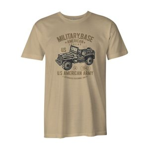 American Army Jeep T Shirt Natural