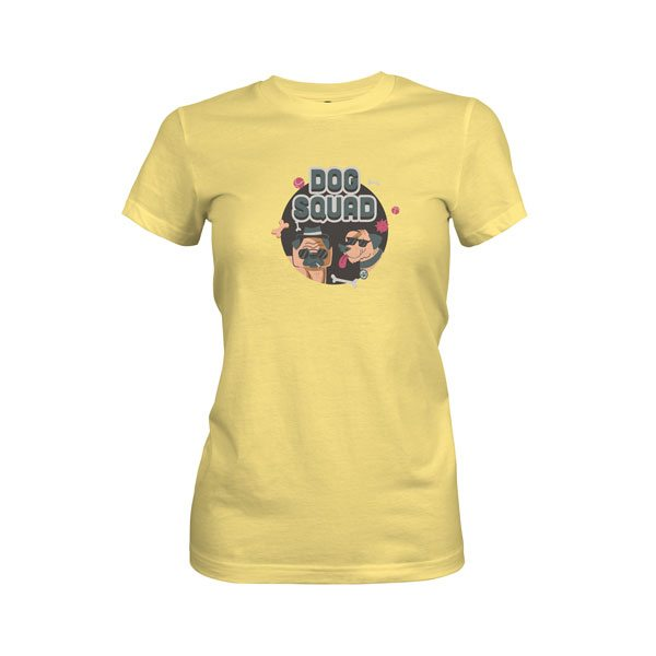 Dog Squad T Shirt Banana Cream