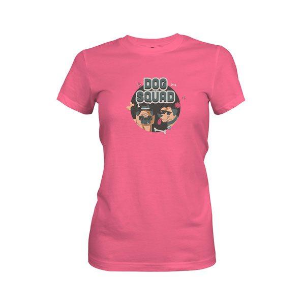 Dog Squad T Shirt Hot Pink