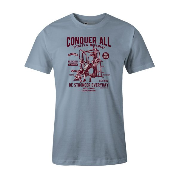 Conquer All T Shirt Baby Blue