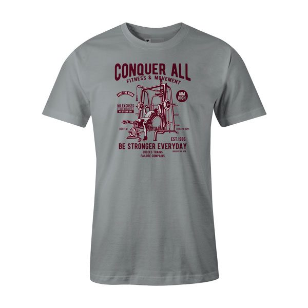 Conquer All T Shirt Silver