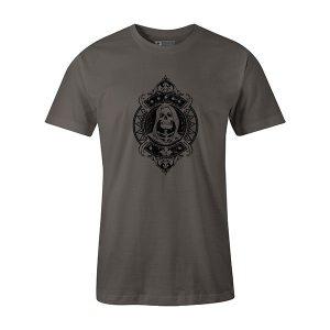 Grim Reaper T shirt charcoal