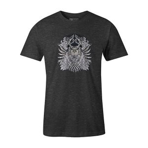 Horned Owl T shirt heather charcoal
