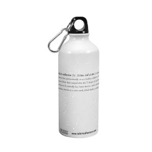 T Shirt Collector Metal Water Bottle White