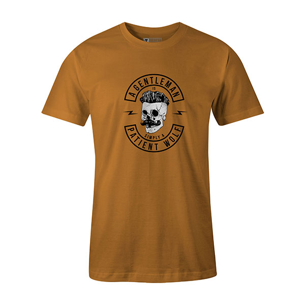 A Gentleman Is Simply A Patient Wolf T shirt ginger
