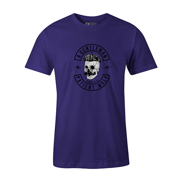 A Gentleman Is Simply A Patient Wolf T shirt purple