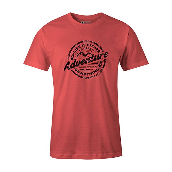 Adventure T shirt coral